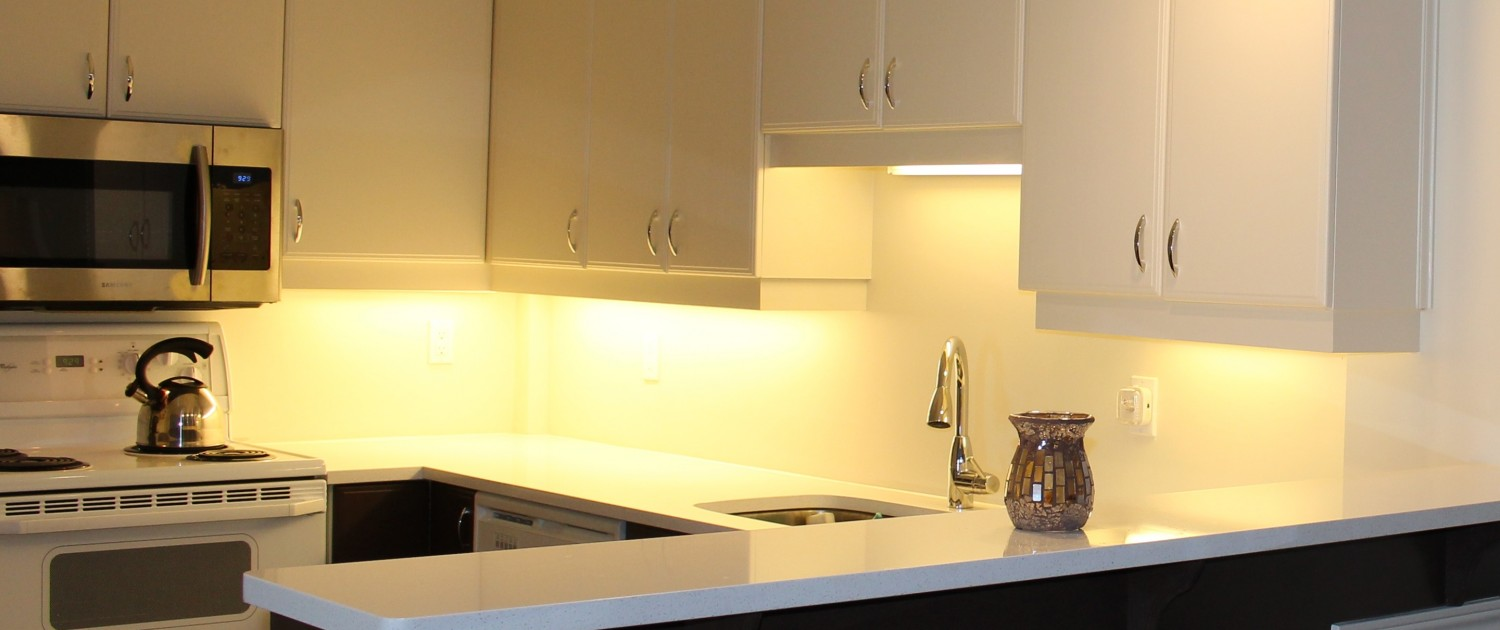 Synergy3 Construction Ottawa Kitchen Renovation, Clean Modern Kitchen, Countertops, Backsplash