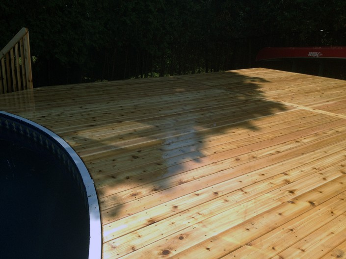 Synergy3 Construction Ottawa Custom Above Ground Pool Deck