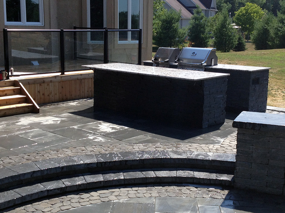 Synergy3 Construction Ottawa Outdoor Kitchen, Backyard Oasis, BBQ Island, Outdoor Stone