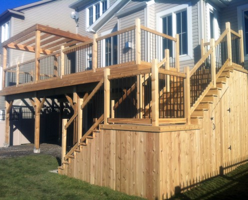 Synergy3 Construction Ottawa Custom Deck Hidden Storage Pergola