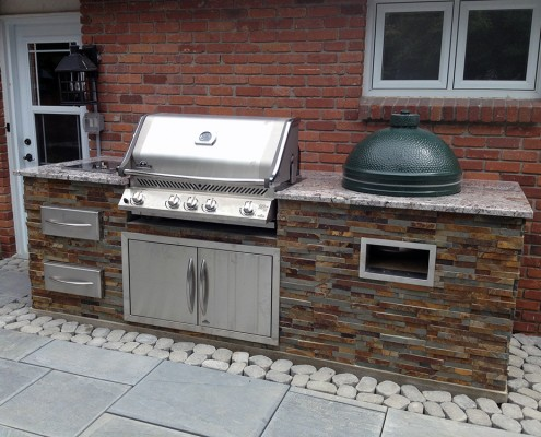 Synergy3 Construction Ottawa Custom Backyard Kitchen, Big Green Egg, Outdoor Cooking Area