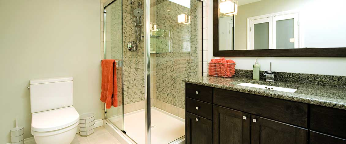 Synergy3 Construction Ottawa Custom Bathroom Renovation, Custom Shower Renovation, Bathroom Heated Floor, Granite Countertop